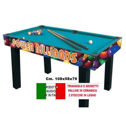 Biliardo power multi tavolo da biliardo stecche in legno e - Misure tavolo da biliardo ...