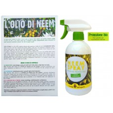 OLIO DI NEEM SPRAY PRONTO ALL'USO 100% BIO 500 ml. REPELLENTE INSETTICIDA  NATURALE